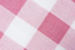 Różowa klasyczna w kratkę tkanina zdjęcia royalty free