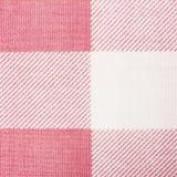 Różowa klasyczna w kratkę tkanina fotografia stock
