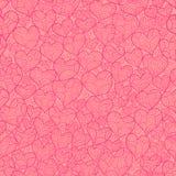 Różowa miłość bezszwowa Zdjęcia Royalty Free