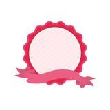 różowa odznaki miłości faborku ikona Obrazy Royalty Free