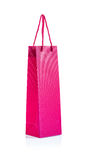 różowa papierowa torba Fotografia Stock