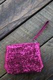 Różowa piękno torba dla dziewczyn i kobiet Fotografia Royalty Free