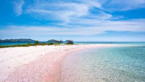 Różowa plaża w Komodo parku narodowym obrazy royalty free