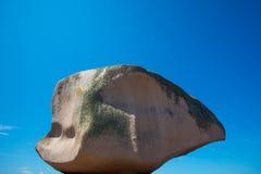 Różowa skała w Tregastel w różowym granitu wybrzeżu Fotografia Royalty Free
