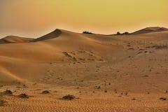 Różowa skały pustynia, Sharjah Zdjęcia Stock