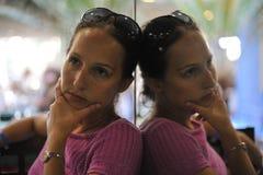 różowa smokingowa kobieta obraz stock
