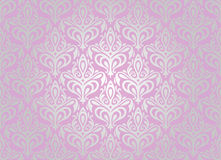 Różowa & srebna tapeta royalty ilustracja