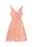 Różowa suknia odizolowywająca na białym tle zdjęcia stock