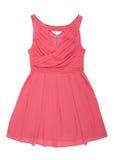 Różowa szyfon suknia z koralikami obraz royalty free