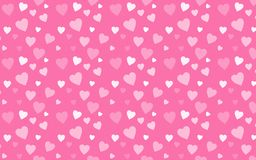 Różowa tapeta z białymi sercami Fotografia Stock