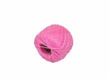 Różowa wełny piłka - nić Zdjęcia Royalty Free