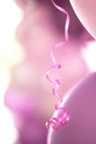 różowa wstążka Fotografia Stock