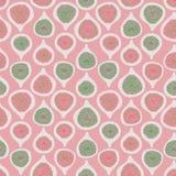 Różowa zieleń ciący figi powtórki wzoru bezszwowy wektorowy tło Oryginalna prosta płaska ilustracja ilustracji
