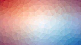 Różowawy Błękitny Triangulated tło Obraz Royalty Free