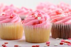 Różowe babeczki zdjęcia stock