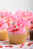 Różowe babeczki Obraz Stock