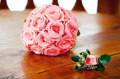 różowe bukiet róże Zdjęcie Stock