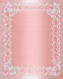 różowe koronek graniczny satyny ślub Zdjęcie Stock