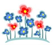 różowe kwiaty blues ilustracja wektor