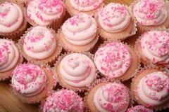 Różowe lemoniad babeczki obrazy stock