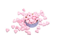 Różowe medycyn pigułki Zdjęcie Royalty Free