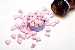 Różowe medycyn pigułki Obraz Royalty Free