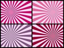 różowe promienie tło ilustracji