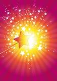 Różowe różdżek gwiazdy ilustracja wektor