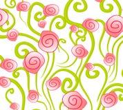 różowe róże abstrakcyjnych tło ilustracja wektor