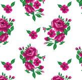 Różowe róże na białym tle Zdjęcia Royalty Free