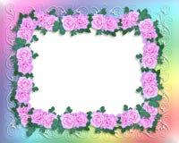 różowe róże zaproszenie graniczny poślubić Obraz Royalty Free