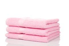 różowe ręczniki obrazy stock