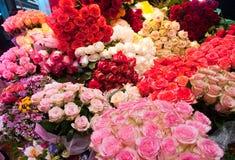 różowe tło róże Zdjęcia Royalty Free