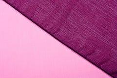 różowe tkanin purpury Zdjęcie Stock