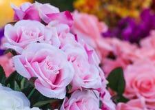 Różowe tkanin róże Obraz Royalty Free