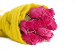 różowe wiązek róże obraz stock