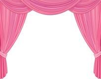 Różowe zasłony royalty ilustracja