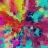 Różowego czerwonego pomarańczowego koloru żółtego błękitny i zielony kwadrata wzoru abstrakt Obraz Royalty Free