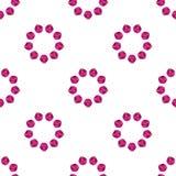 Różowego kolorów płatków round wzoru ramy bezszwowy projekt na białym tle, wektorowa ilustracja ilustracji