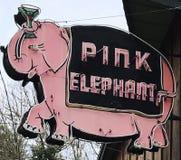 Różowego słonia baru znak Monte Rio Kalifornia Obraz Stock