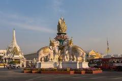 Różowego słonia statua, Bangkok, Tajlandia Zdjęcie Stock