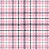 Różowego tartanu wektoru bezszwowi wzory W kratkę szkockiej kraty tekstura Geometrical kwadratowy tło dla tkaniny ilustracja wektor