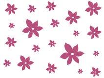 różowią textured kwiaty ilustracja wektor