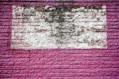 Różowi i biali ściana z cegieł zdjęcie stock
