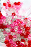 Różowi i czerwoni koraliki Obraz Stock