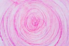 Różowi kredka okręgi na papierowej rysunkowej bacground teksturze Zdjęcia Royalty Free