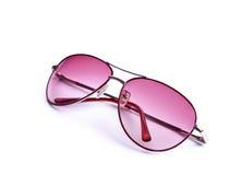 różowi okulary przeciwsłoneczne Fotografia Stock