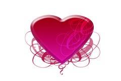 różowi serce faborki ilustracji