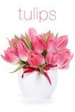 różowi tulipany Obraz Stock