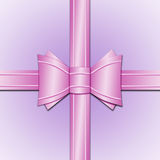 Różowy łęk Obrazy Stock